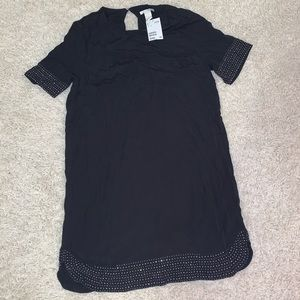 H&M studded trim black dress